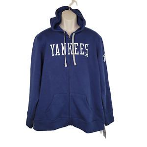 New York Yankees Womens Zip Up Sweater Size XL Fanatics Baseball MLB