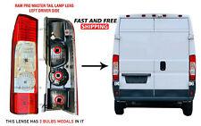 Ram Promaster 250 350 Back Tail Light Lens Left Driver 2014-2018