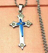 New Stainless Steel Cross   Pendant Necklace   DZ18