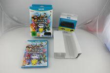 Coffret SUPER SMASH BROS. + controller adapter pour Nintendo Wii U PAL Neuf !