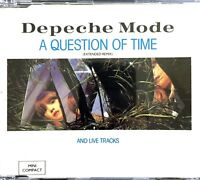 FRENCH CD MAXI DEPECHE MODE A QUESTION OF TIME EXTENDED REMIX AND LIVE TRACKS 86