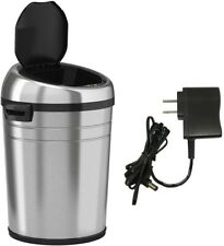 Trash Can 18 Gal. Automatic Touchless Sensor Liner Locking in Stainless Steel