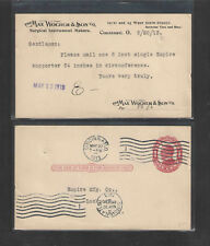 1913 Max Wocher Son Surgical Instrmts Cincinnati Oh Advertising Postal Card Ux24