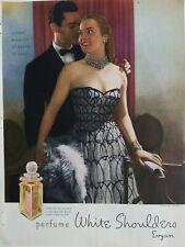 1946 White Shoulders Perfume bottle womens Ceil Chapman dress ad
