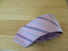 Duffer Pink With A Stripe Design Silk Mens Tie