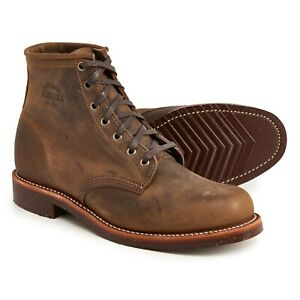 "Chippewa Aldrich 6"" Service Work Boot Crazy Horse Leather Plain Toe 11 1901M29"