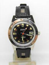"montre de plongée ""CAUNY SUBMARINE"" deluxe calendrio 1803 diver watch vintage"