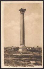 Egypt. Alexandria. Column of Pompee. Vintage Card by The Cairo Postcard Trust