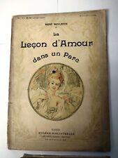 Antique French erotic Book BOYLESVE CALBET LECON DE AMOUR DANS UN PARC 1908