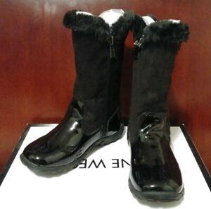 Nine West Toddler Girl's Deena Fashion Black  Winter Boots Size 8M NWB