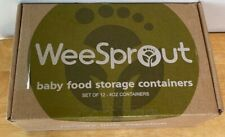 WeeSprout Baby Food Storage Containers Set Of 12-4 Oz Containers