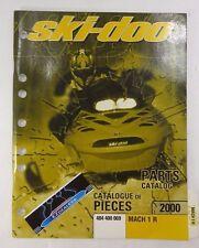 Ski-Doo 2000 Mach 1 R Oem Factory Parts Book Catalog Manual 484 400 069