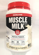 Muscle Milk Protein Powder, Natural Vanilla, 39.5 oz/2.47 lb, EXP 10/2021, NEW!