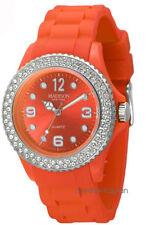 Madison New York Juicy Glamour   U4101E5 Damen Uhr Silikon Mädchenuhr orange neu