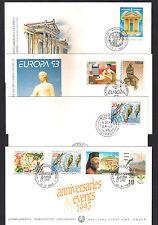 CYPRUS 1993 COMPLETE YEAR SETS + REPRINT MOUFLON OFFICIAL+ UNOFFICIAL FDC's