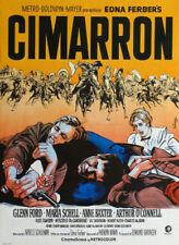 Cimarron Glenn Ford vintage western movie poster #2