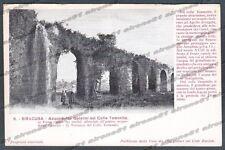 SIRACUSA CITTÀ Cartolina 6. Serie CASA DEI VIAGGIATORI - ACQUEDOTTO