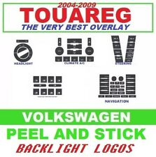 2004-2009 VW Touareg Button Decal Set AC Radio Steering Headlight Window Switch