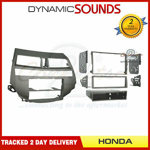 CT23HD07 Double Din Fascia Panel Adaptor Taupe for Honda Accord 2008-2012