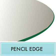 """24"""" Inch Clear Round Tempered Glass Table Top 3/8"""" thick - Pencil edge"""