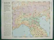 WW2 WWII MAP ~ END IN ITALY APR-MAY 1945 ATTACKS ALLIED FRONT LINE DEFENCE