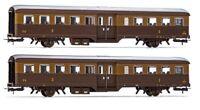 RIVAROSSI HR4296 Set 2 Corbellini 2 assi, 3a classe, livrea Castano/Isabella FS