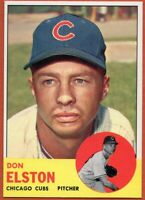 1963 Topps #515 High # Don Elston Mint Pack Fresh Chicago Cubs FREE SHIPPING