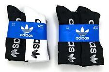 adidas Originals Men's Crew Socks 6 Pack Shoe Size 6-12
