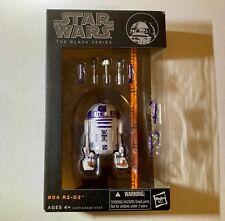 Hasbro Star Wars Series 4 R2-D2 Artoo Action Figure Black Series Orange Line 6in