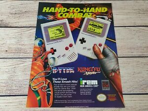 R-Type Kung Fu Master Star Nintendo Game Boy Promo Magazine Art Ad Print Poster