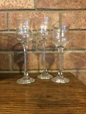 Partylite 3 Piece Glass Trio Tulip Candle Holders Clear Stems Euc