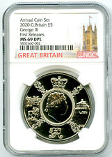 2020 GREAT BRITAIN 5PND KING GEORGE III NGC MS69 DPL FIRST RELEASES RARE !