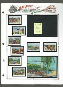 RAILROADS (D)...Grenada Grenadines...#619//628...Mint NH...1984...SCV $14.95
