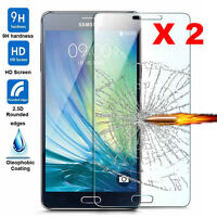2Pcs Premium Tempered Glass Screen Protector Film Cover Guard For Samsung Galaxy