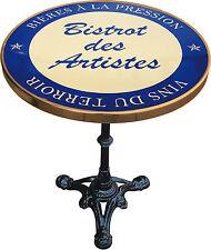 MANGE DEBOUT TABLE BISTROT EMAILLEE BISTROT DES ARTISTES BLEU VINS DU TERROIR