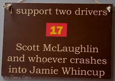Scott McLaughlin v Jamie Whincup V8 Supercars Ford Falcon Sign Red Yellow Shell