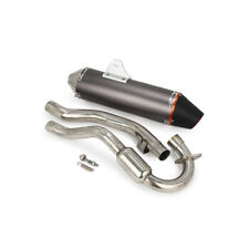 CNC Slip On Muffler Exhaust Pipe System For Honda CRF230F CRF150 03-13