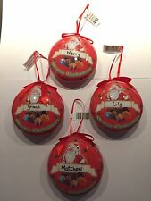 HAND PERSONALISED SANTA Christmas Tree Bauble- ANY NAME AVAILABLE-Christmas Gift