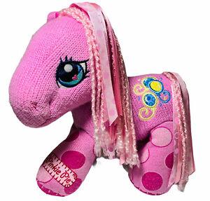 "My Little Pony Pinkie Pie Crotchet Style Soft Plush Soft Eyes 9"" Rare"