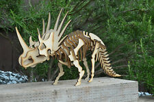 TRICERATOPS (LARGE) DINOSAUR SKELETON MODEL laser cut self assembly wood toy