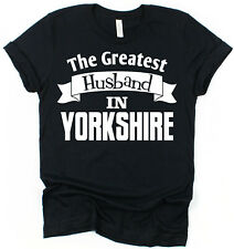 Personalised Place Greatest Husband T-Shirt Gift for Husband Valentines Day Idea