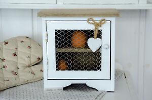 Eierschrank Eierkasten Eierkorb Eier Holzkasten Holzregal Küche Shabby Chic