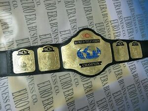 New WCW Television Championship Belt, adult size & metal plates