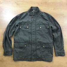 Paul Smith Jeans Green Brown Khaki Military Coat Jacket Large L Parka