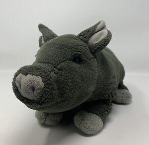 "Dakin Huggables Bertha The Pig Bean Bag Plush Stuffed Animal Toy 14"" Gray"