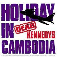 Dead Kennedys Holiday In Cambodia vinyl sticker 100mm x 100mm (cv)