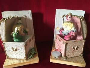 Jack in the box pair of ceramic colourful classic library study ornamental book