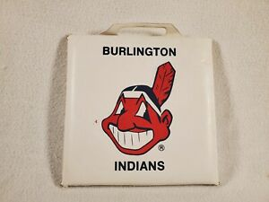 Burlington NC Indians Minor League Baseball Team Logo Stadium Seat Cushion Color