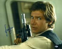 "Harrison Ford Star Wars Signed 16"" x 20"" Holding Gun Photo - BAS"