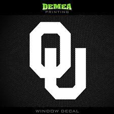 "University of Oklahoma - Sooners - OU - NCAA - White Vinyl Sticker Decal 5"""